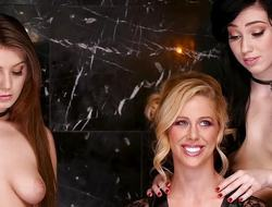 Pleasing the mistress minge hole - Cherie Deville, Jojo Kiss and Aria Alexander