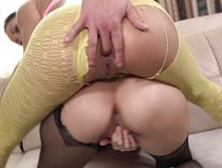 Dilettante babes share this hard cock