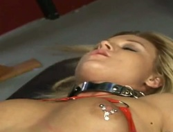 Blonde Molly Cavalli with biggest boobs and shaved snatch is too hot to stop masturbating