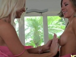 Cali Lakai and Molly Cavalli are super hawt babes and they are having so much fun with their tits. They are ornamenting these puppies and things soon heat up as the girls get lewd from the touching.