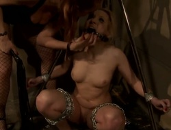 Awesome and mad Sadomasochism scene with horny lesbians named Ary and Katy Parker